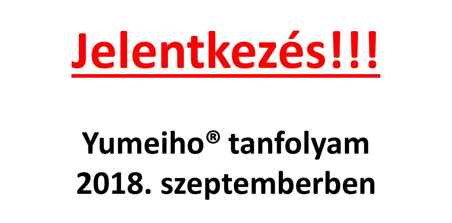 Yumeiho tanfolyam 2018. szeptember!